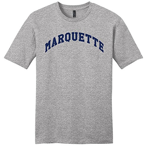 (Campus Merchandise NCAA Marquette Golden Eagles Arch Soft Style T-Shirt, Medium, Light Heather Grey )
