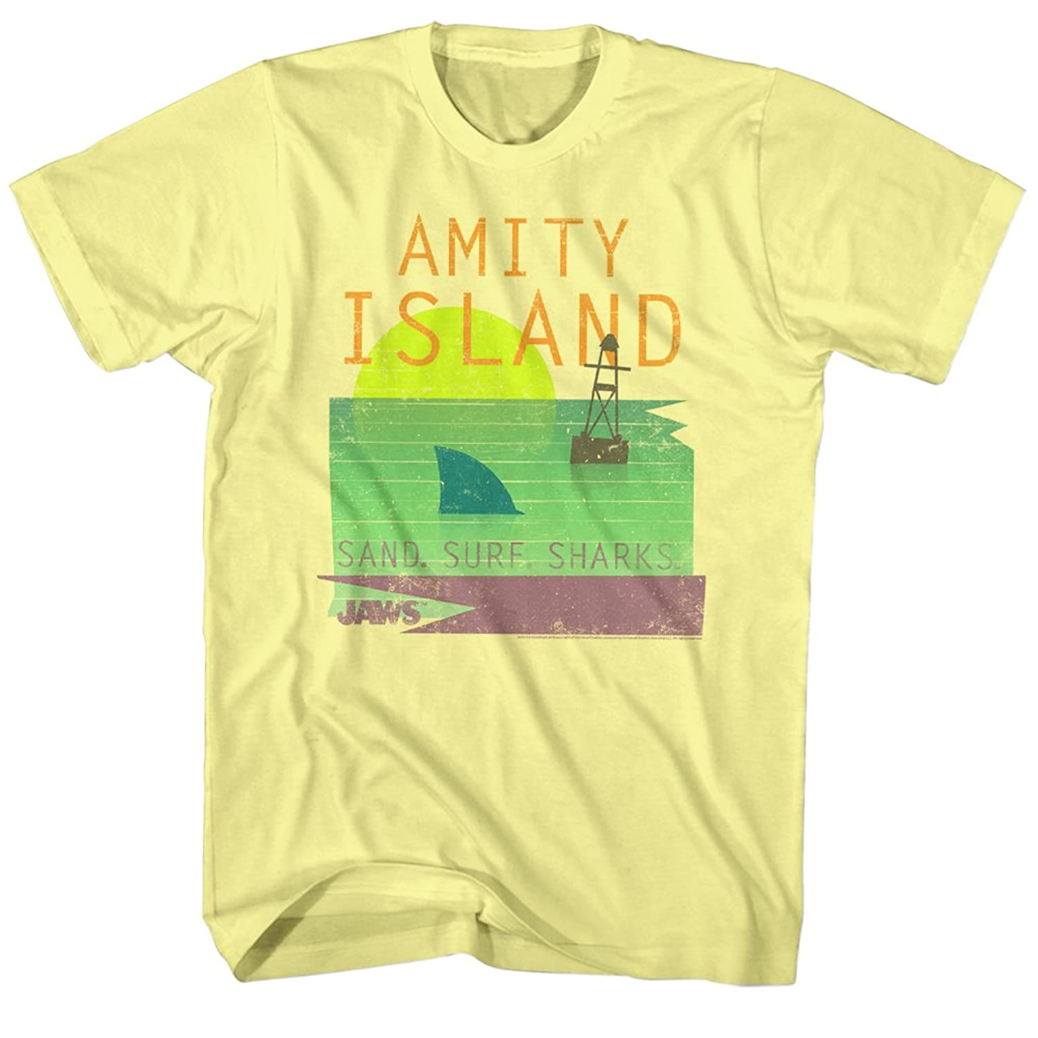 Jaws 1970's Shark Thriller Spielberg Movie Amity Island Clip Art Adult T-Shirt