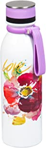 Cypress Home Love Flower Stainless Steel Water Bottle, 20 ounces