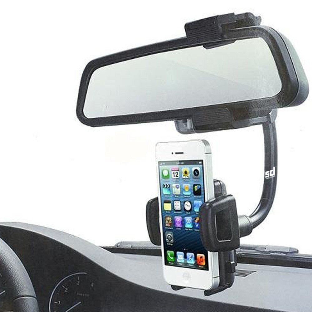 Car rearview mirror mount holder car reviews - Smiledrive Car Rear View Mirror Universal Mobile Mount Holder With Flexible Goose Neck The Best Se Neck The Best Car Mobile Holder Amazon In
