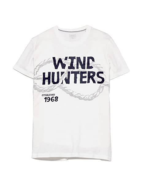 Esprit Camiseta - para Hombre Multicolor 110 Off White Large