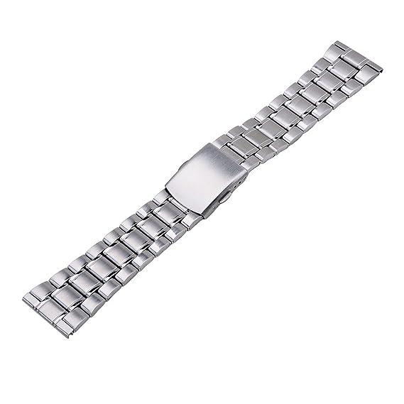 20mm Unisex Plata Inoxidable Correa de reloj venda de reloj correa para relojes: Amazon.es: Relojes