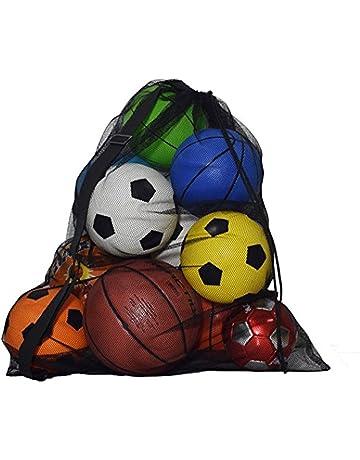 67309aeef0 Sac à Ballons en Filet, Grand Capacité Maille Boule Jouets de Plage  Rangement avec Sangle