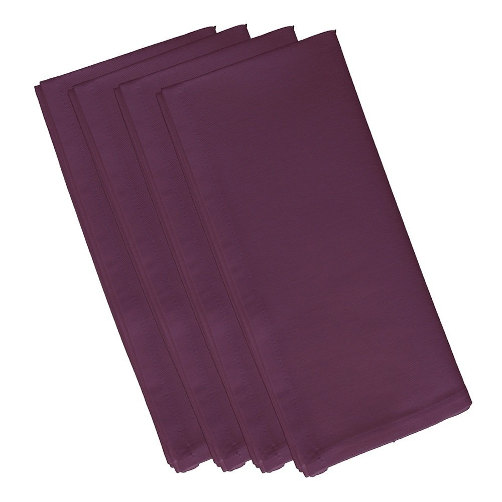 4 Piece Plum Dinner Napkin, (Set Of 4), Solid Pattern, Classic And Contemporary Style, Square Shape, Good Qualitie, Everyday Or Special Occasions, Decorative, Cotton Material, Violet, Magenta by Patriot