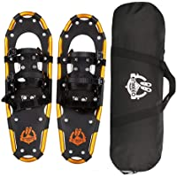 f13a7d55e2cf ENKEEO All Terrain Snowshoes Lightweight Aluminum Alloy Snow Shoes with  Carry Bag and Adjustable Ratchet Bindings