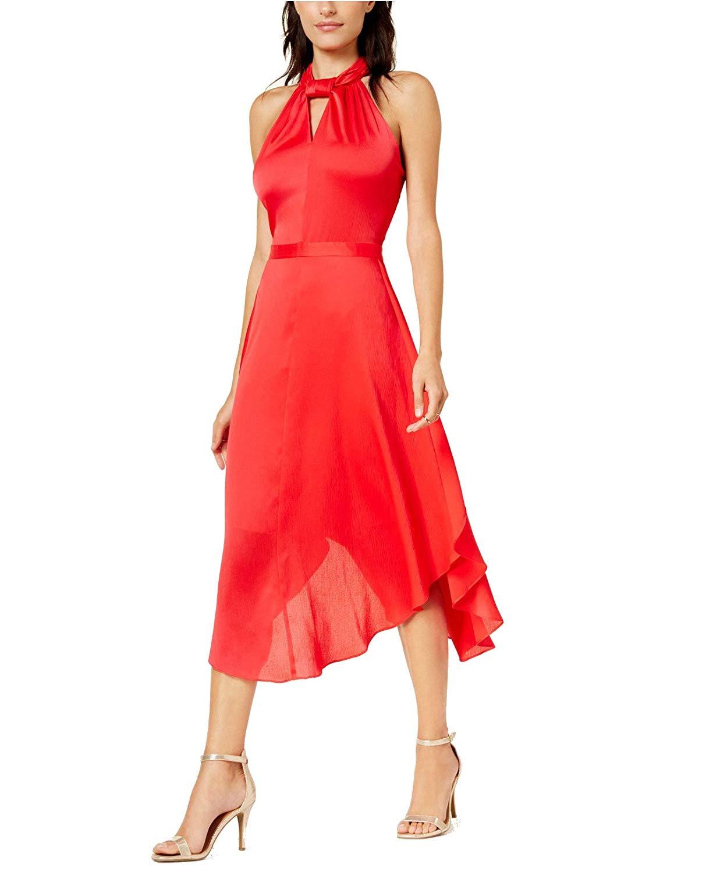 CHERYY POP Rachel Roy Womens Twisted ALine Dress