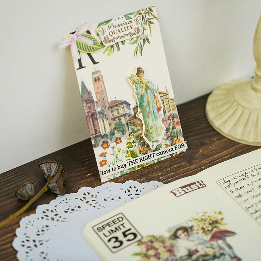 eroute66 Vintage Light Clock Furniture Plant DIY Scrapbooking Album Diary Stickers 2Pcs 1# by eroute66 (Image #6)