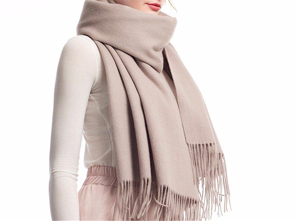 DIDIDD Pañuelo bufanda de lana de las señoras engrosamiento calidez primavera y el invierno cálido c...