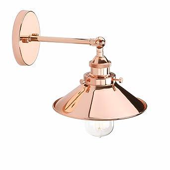 Vintage pas Réglable D'ampouleCuivre Avec Jour Lampe Industriel Abat Murale Métal E27 Eclairage Rétro Applique Pathson WIDY29HE
