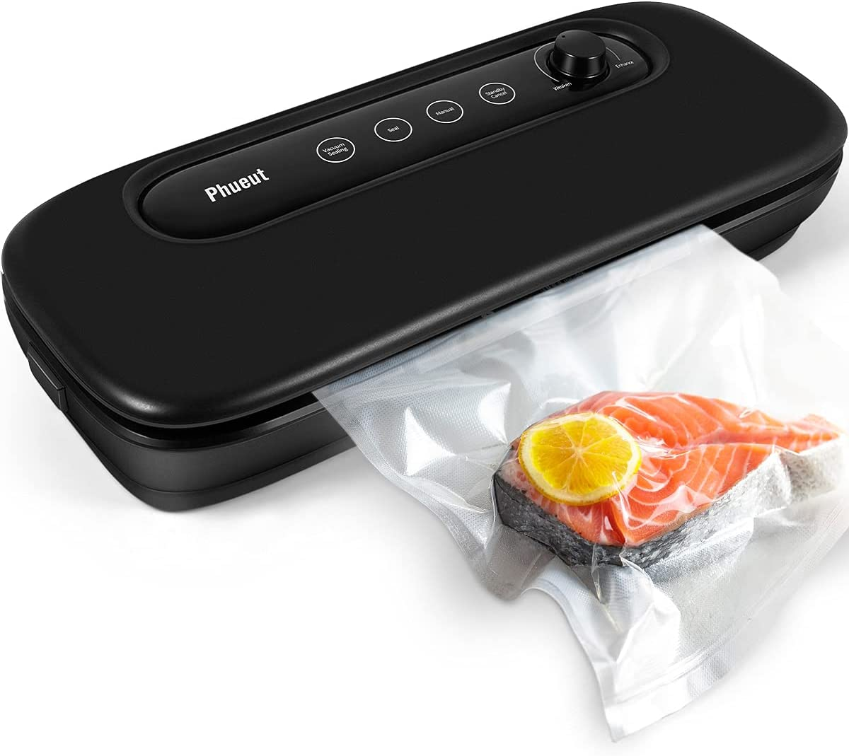 Vacuum Sealer Machine, Automatic Food Saver Machine with Powerful Air Sealing System (-60Kpa), Dry & Mist Food Saving Machine with Adjustable Suction & LED Indicator Lights (20 bags)