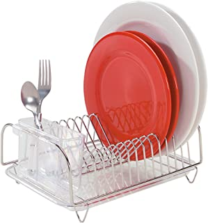 Better Houseware 3423 Compact Dish Drainer Set Stainless  sc 1 st  Amazon.com & Amazon.com - Neat-O Deluxe Chrome-plated Steel Small Dish Drainers ...