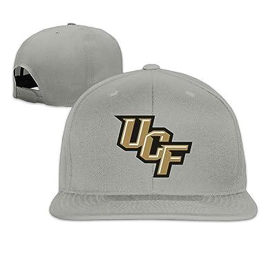 Amazon.com  Custom UCF Knights Sport Logo Flexfit Ajustable Flat Cap ... 6028fb4022a3