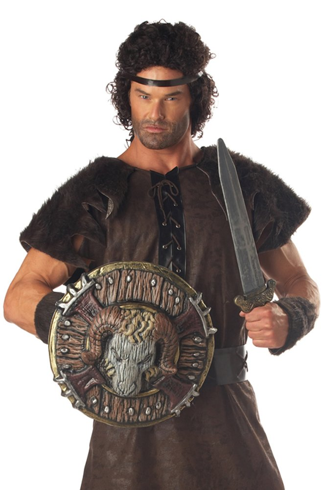 Awesome Barbarian Combat Costume Ram Shield/Sword Set