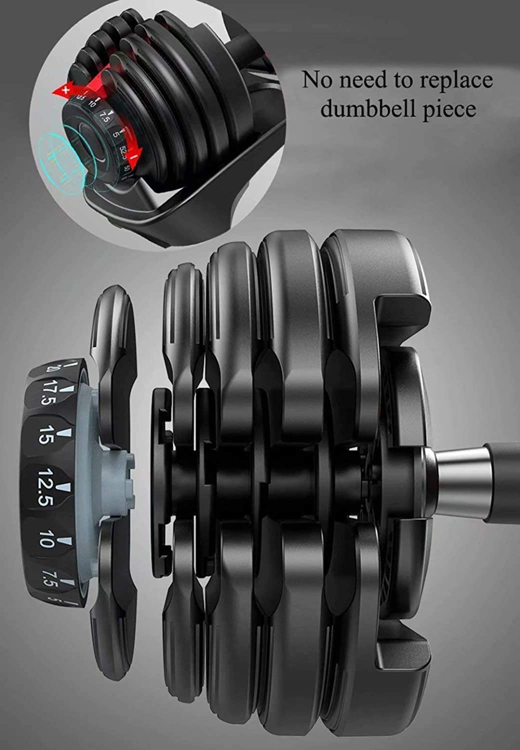 YPC Adjustable Dumbbells with Stand Set,Workout Exercise Barbell Gym Equipment Barbell for Men and Women Home Fitness Weight Set Gym Workout Exercise Training