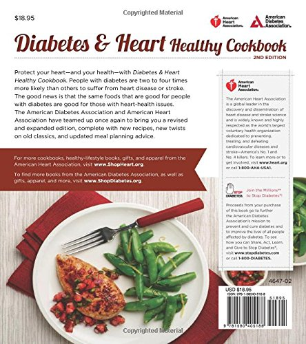 Diabetes and heart healthy cookbook american diabetes association diabetes and heart healthy cookbook american diabetes association american heart association 9781580405188 amazon books forumfinder Choice Image