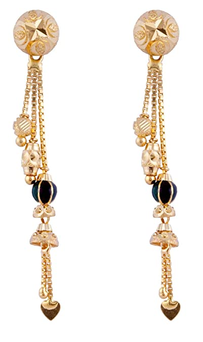 25b92c2b1 Buy Paliwal Jewellers 22 KT Yellow Gold Sui Dhaga Earring For Women and  Girls Online at Low Prices in India | Amazon Jewellery Store - Amazon.in