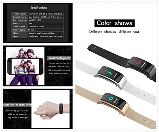 Amazon.com : PADY-Wearable Technology 2 in 1 Smart Band B31 Colorful Screen Wireless Blood Pressure Heart Rate Monitor Sport Smart Bracelet Bluetooth ...
