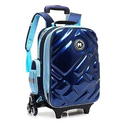 e5223700f1 QCC& Stile Coreano 3D Riflessivo Impermeabile Zaino Con Ruote Multifunzione  Salire Le Scale Trolley School Bag
