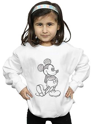 Disney Niñas Mickey Mouse Sketch Kick Camisa De Entrenamiento: Amazon.es: Ropa y accesorios