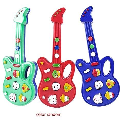 Aiming Bebé Animal plástico Mini Kids Música de la Guitarra eléctrica de Dibujos Animados Aprender los