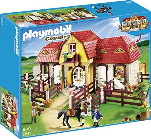 Playmobil Pony Farm - PLAYMOBIL Large Horse Farm with Paddock