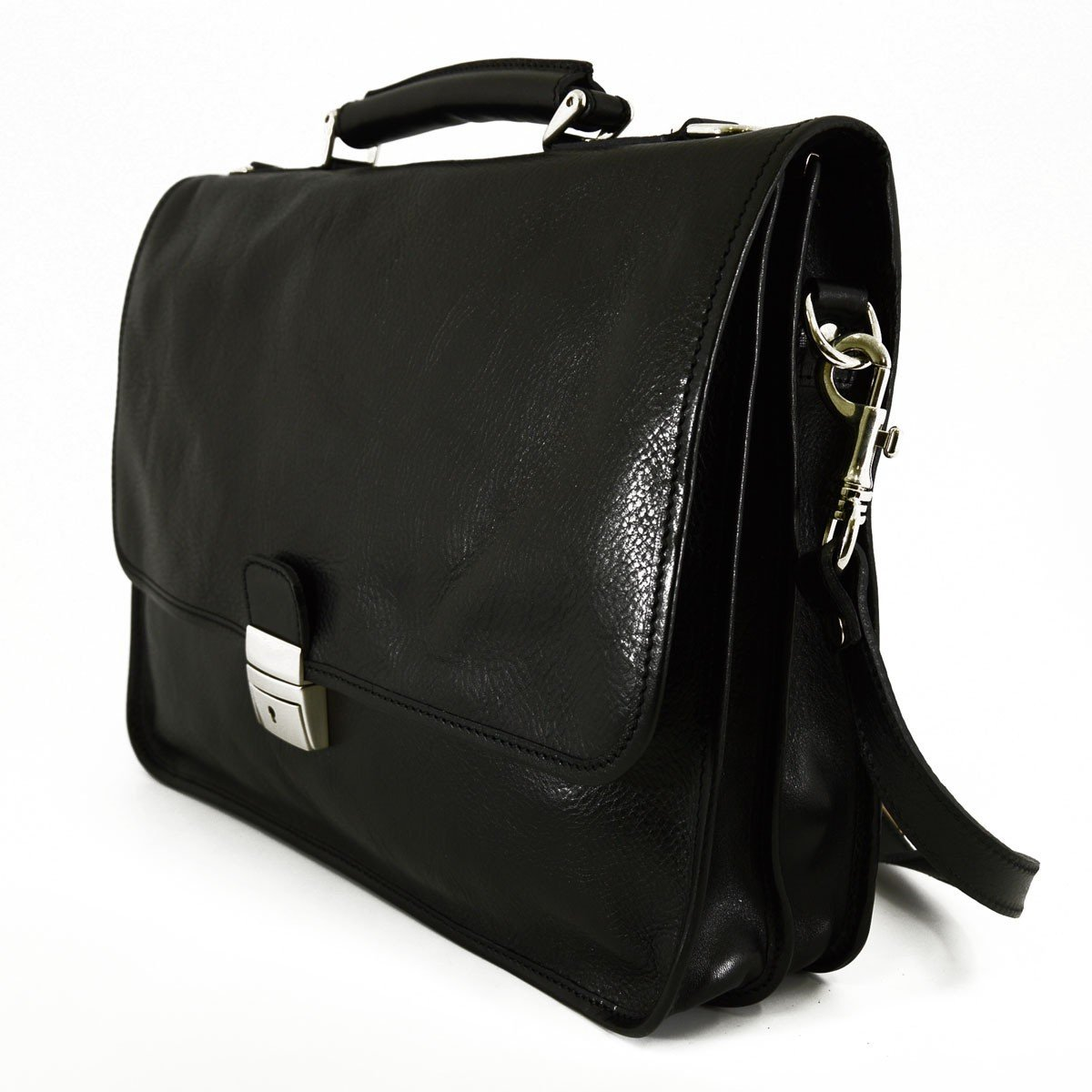 Leather Briefcase Color Black