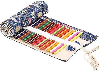 Estuche Lienzo Stifter Olle estuche Estuche Funda para mappchen Muelle 72 lápices de colores y lápices, color 1: Amazon.es: Oficina y papelería