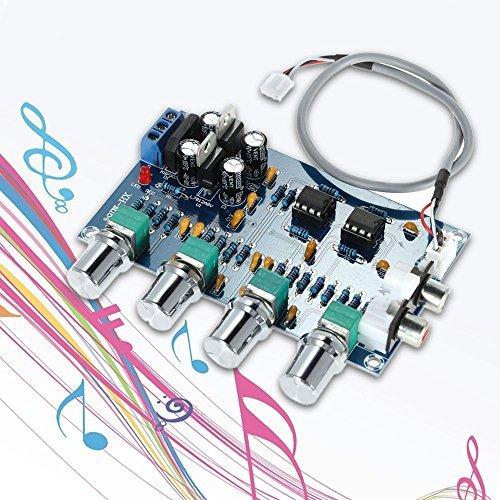 Generic NE5532 Audio 4 Channels Preamplifier Tone Board Quality Stereo Pre-amp Amplifier Board Professional Telephone Channel Amplifier