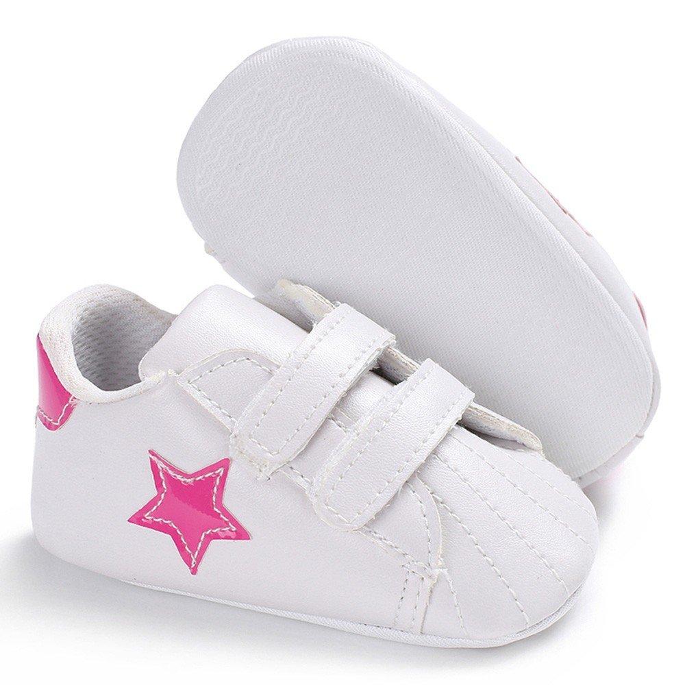 CIELLTE B/éb/é Chaussures Premiers Pas Fille Gar/çon Nouveau-n/é Toddler /Étoile Patchwork Velcro Sneaker Baskets Basses Chaussures Enfant
