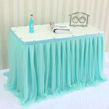 Amazon.com: Aibelly Tutu falda de mesa de 3 capas de malla ...