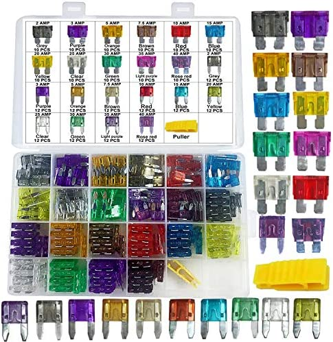 Muhize Assorted Standard Blade Fuses Kit - (2A/3A/5A/7.5A/10