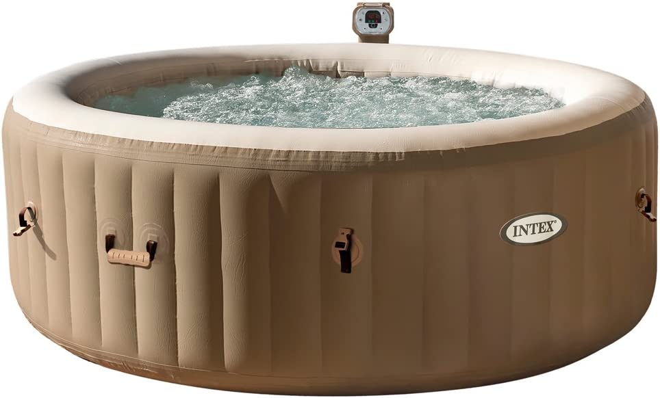 Intex 28408 Hinchable Burbujas sin cobertor Full SPA, Beige/Caqui ...