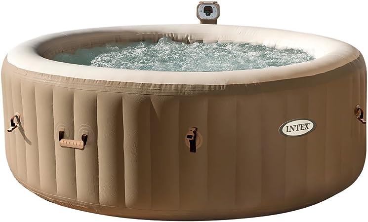 Intex Pure Spa 6 Person Bubble Therapy Hot Tub Beige Amazon Co