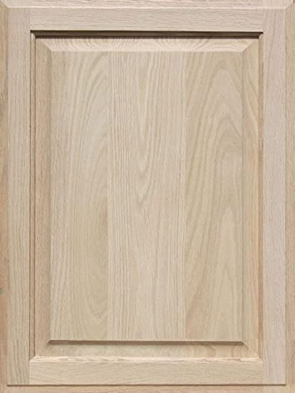 Attractive Unfinished Oak Cabinet Door, Square With Raised Panel By Kendor 24H X 18W
