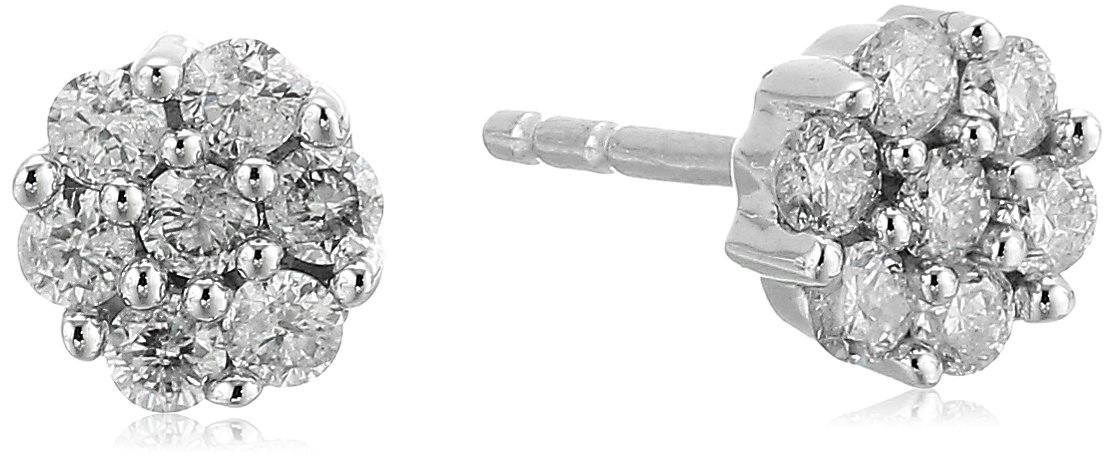 10k Gold Diamond Earrings (1/4 cttw, J-K Color, I2-I3 Clarity) by Amazon Collection