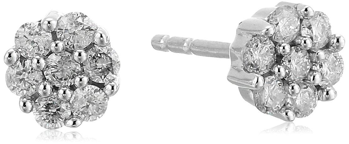 10k Gold Diamond Earrings (1/4 cttw, J-K Color, I2-I3 Clarity)