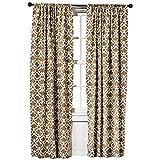 Threshold Curtains Threshold Farrah Fretwork Brown & Cream Curtain Panel (2, 95