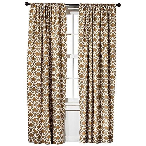 Threshold Farrah Fretwork Brown & Cream Curtain Panel (2, (Fretwork Panels)