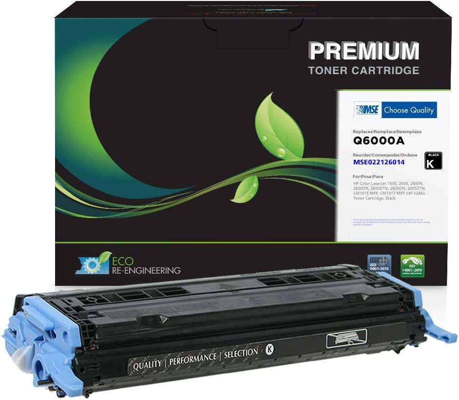MSE Brand Remanufactured Toner Cartridge for HP 124A Q6000A | Black