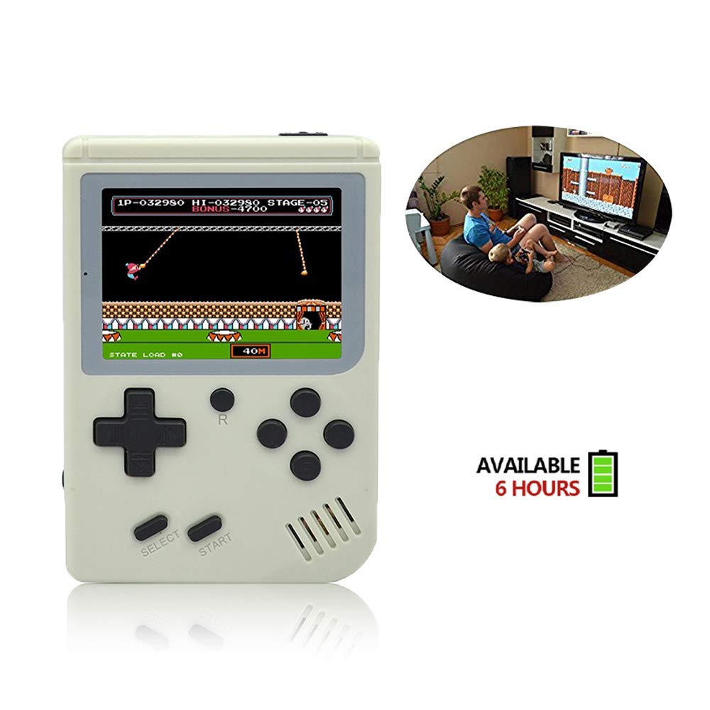 FLYFISH Handheld Game Console, Retro FC Game Console 3 Inch 168 Classic Games , Birthday Present for Children -White by FLYFISH (Image #2)