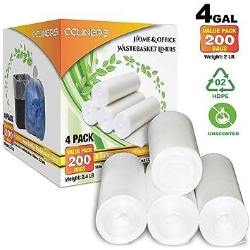 Amazon.com: Bolsas de basura pequeñas transparentes de 4 ...