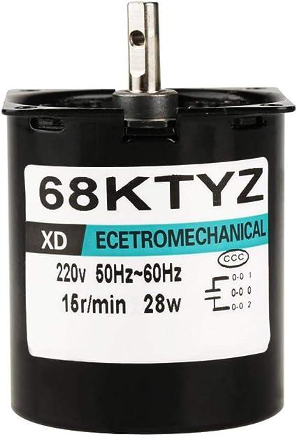 Motor Elctrico Sincrnico Motor de Baja Velocidad Motor reductor reversible engranajes metálicos completos Motor síncrono AC220V Reductor de velocidad para