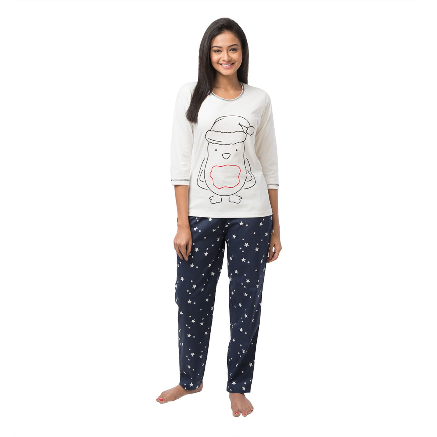 Women's Cute Penguin Winter Cotton Pajama Set