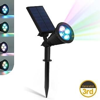 ZEEFO LED Lampes Solaires de 200 Lumens, Projecteur à Énergie ...
