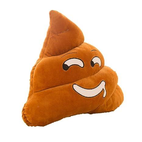 akssweet Mini peluche cojín Emoji caca con forma de Smiley ...