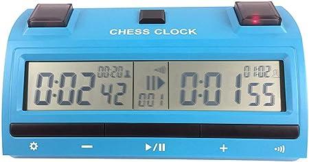 PS398 Reloj de ajedrez Digital Cuenta atrás Temporizador de Cuenta atrás Deportes Profesionales Damas electrónicas Juego de competición Reloj (Azul) ESjasnyfall