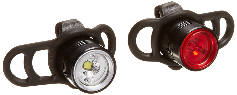 Lezyne 1-LED-1P-V104 Kit de Luz Led Delantera Y Trasera, Negro, M