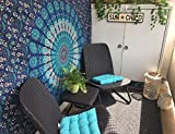 Christmas Gift Blue Tapestry Wall Hanging Mandala Tapestries Indian Cotton Bedspread Picnic Bedsheet Blanket Wall Art Hippie Twin Hippie Bohemian Wall Decor Tapestry