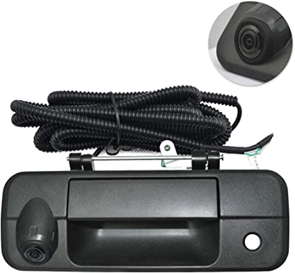 Tailgate Replace Rear View Camera Backup Tailgate Handle Camera for Toyota Tundra 2007 2008 2009 2010 2011 2012 2013 Color: Black ,Tailgate Door Handle Replacement Camera