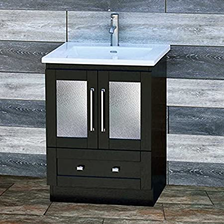 Amazon Com Elimax S 24 Bathroom Vanity Solid Wood 24 Inch Cabinet Ceramic Intergrated Sink B2421b Ct Everything Else